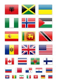 Icones drapeaux gratuites