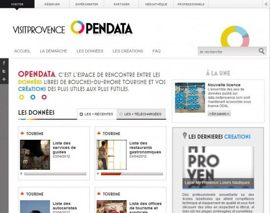 Visit Provence et Open Data