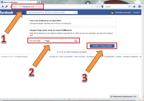 Facebook, personnaliser l'url de sa page