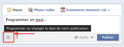 Programmer une publication sur Facebook