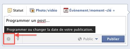 Programmer une publication sur Facebook