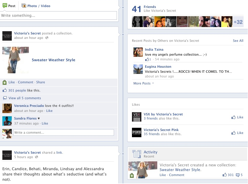 Exemple bouton Facebook want newsfeed