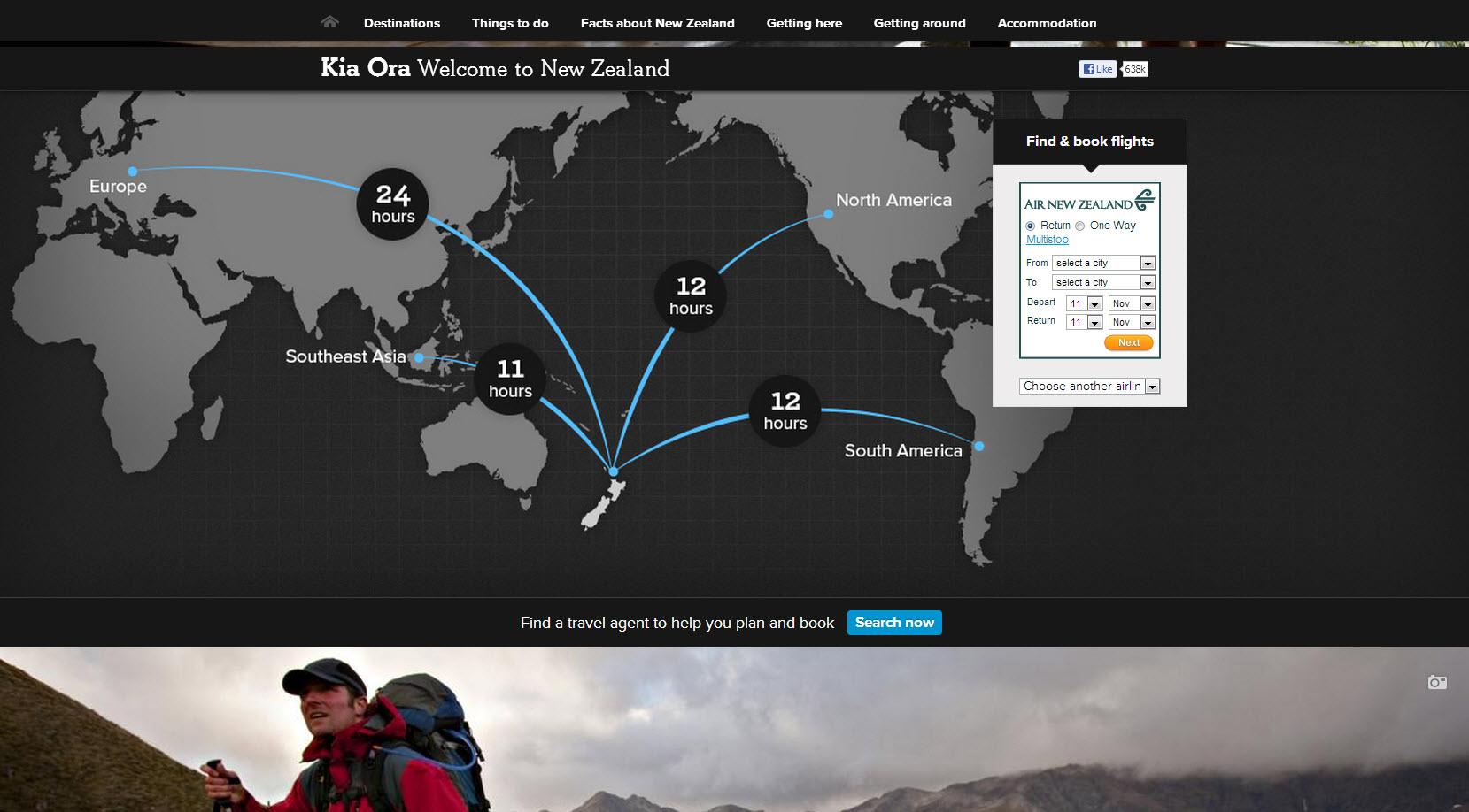 Carte Nouvelle-Zélande grand format