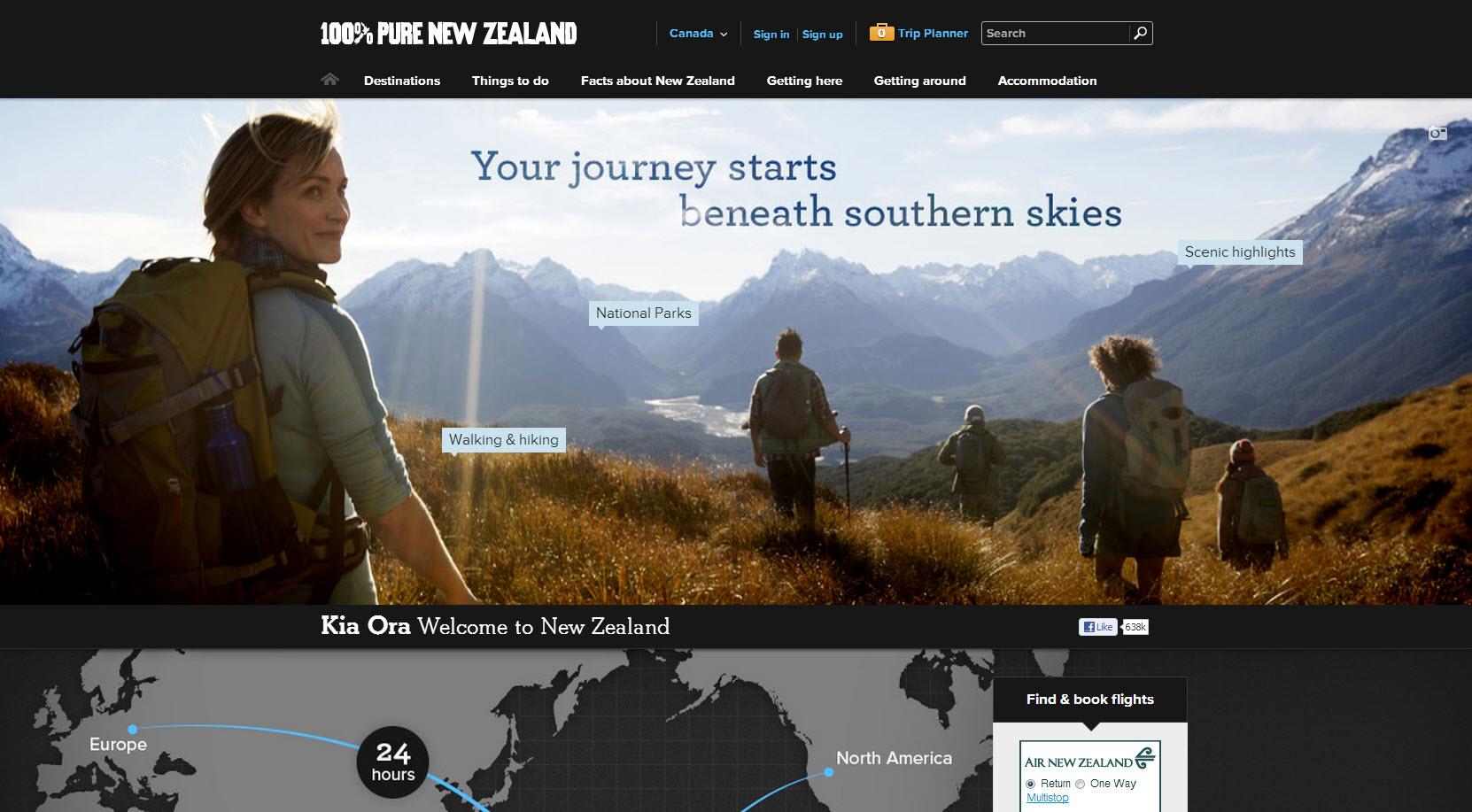 Page accueil caroussel image Nouvellez-Zélande