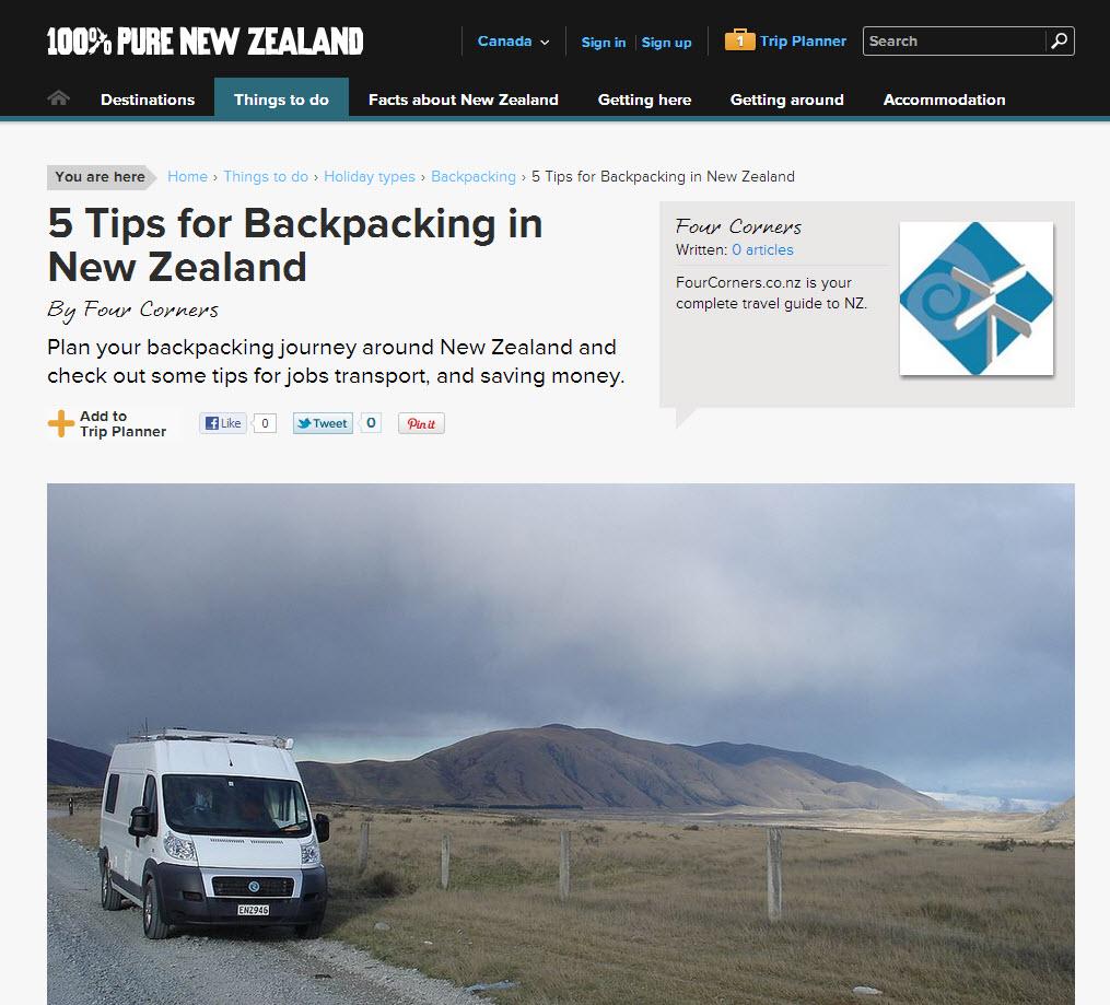 Nouvelle-Zélande articles pratiques