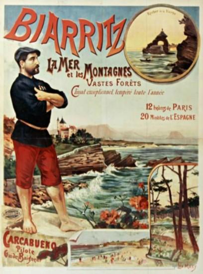 Biarritz. La mer et les montagnes. (1887)