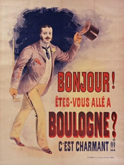 Bonjour ! Etes-vous alle a Boulogne - C est charmant  (1900)