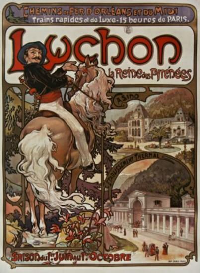 Luchon, la reine des Pyrenees - A. Mucha (1895)