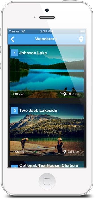 OpenCanvas itinéraire touristique mobile