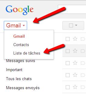 Accéder au gestionnaire de tâches dans Gmail