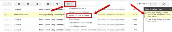 Gestion des tâches dans Gmail
