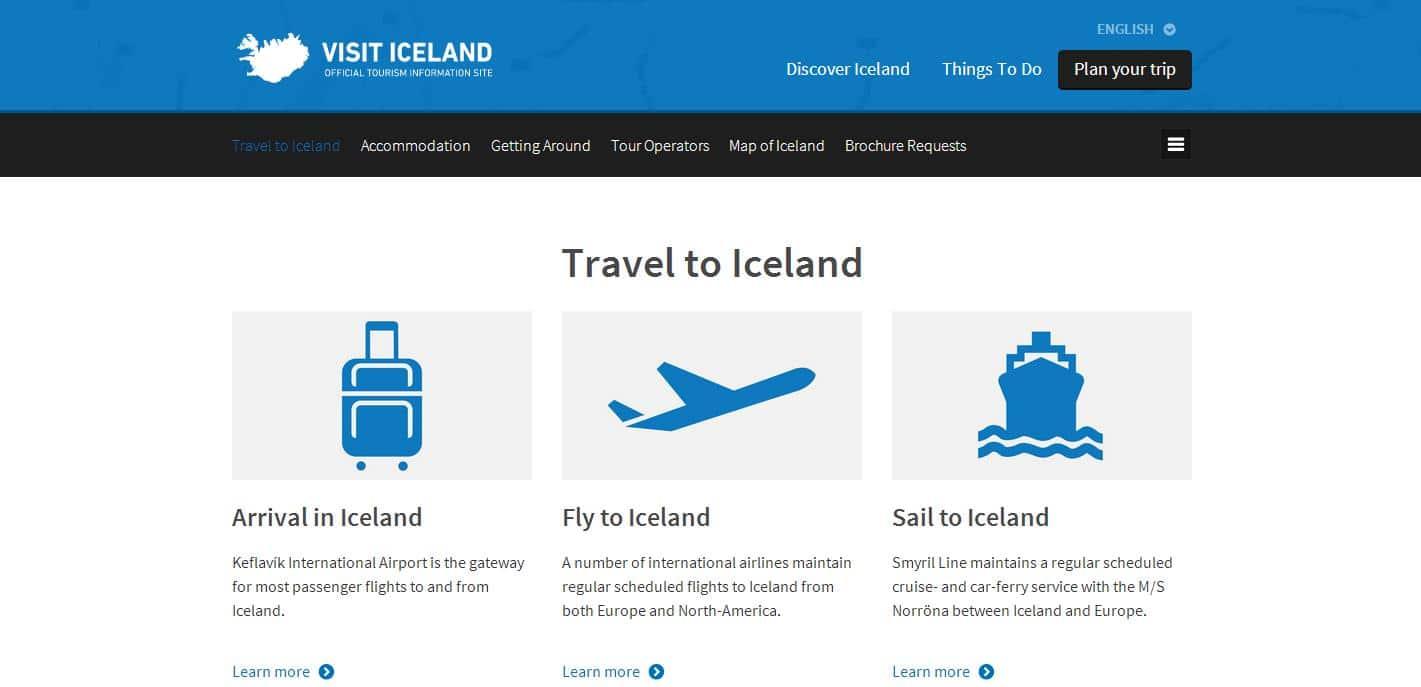 site officiel islande