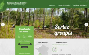 Site Internet de balades et de randonnées dans les Landes de Gascogne