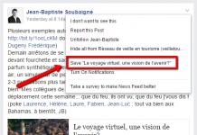 Fonction sauvegarde de Facebook