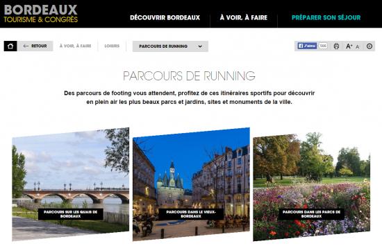 Parcours de running à Bordeaux