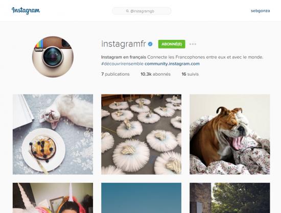 Instagram se lance dans @InstagramFR !