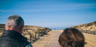 accès d'une plage à lège cap ferret