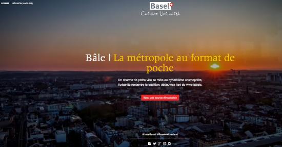 Beau site en scrolling pour l'office de tourisme de Bâle en Suisse