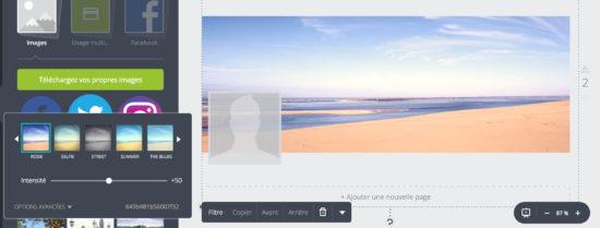 Canva - filtre photo