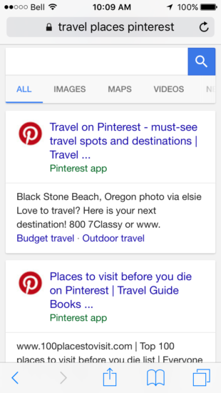 app indexing pinterest
