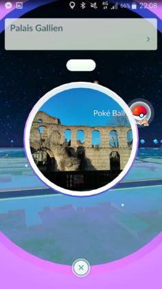 Le PokeStop du Palais Gallien à Bordeaux