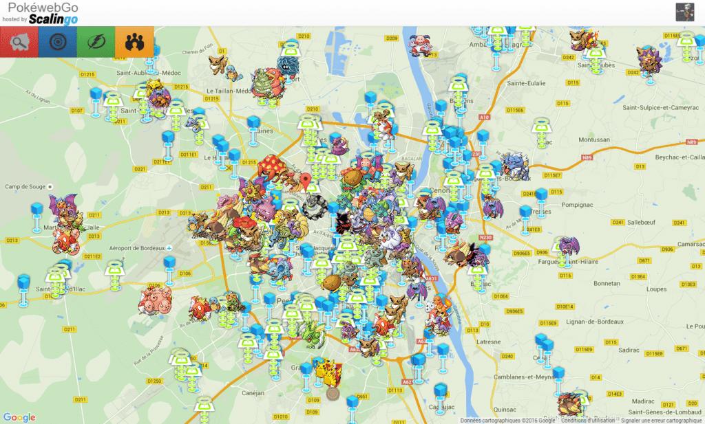 Cartographie collaborative des Pokémon rencontrés