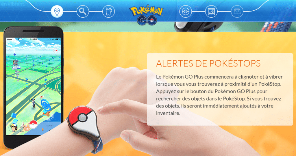Le bracelet connecté Pokémon GO Plus