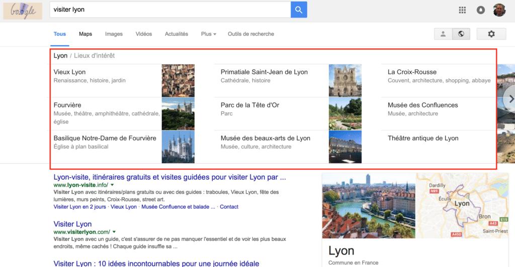 Visiter Lyon sur Google