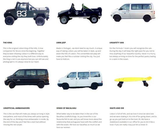 une offre de véhicules variés
