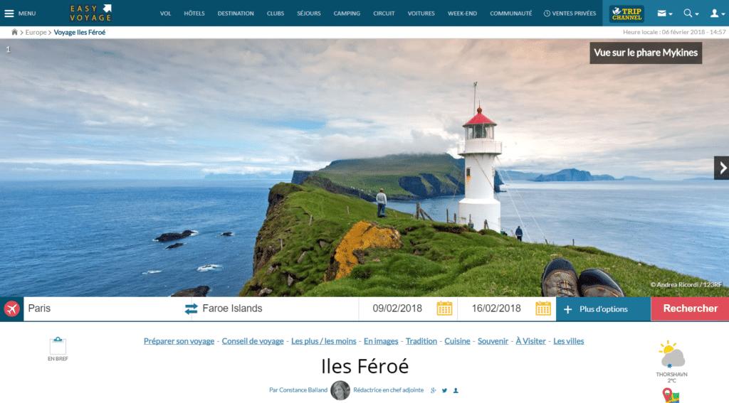 Les ÎlesFéroé vues par Easy Voyages