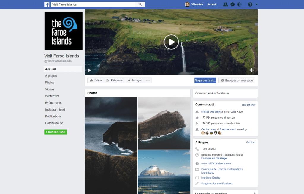 Les Îles Féroé sur Facebook