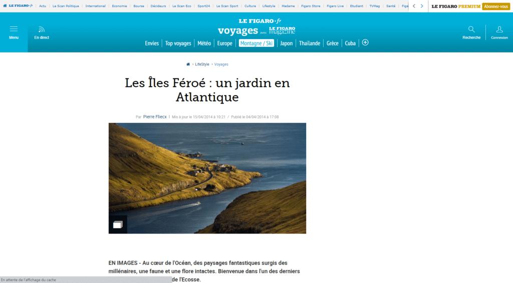 Les ÎlesFéroé vues par le Figaro