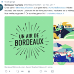 publication facebook informant de la sortie du site un air de bordeaux