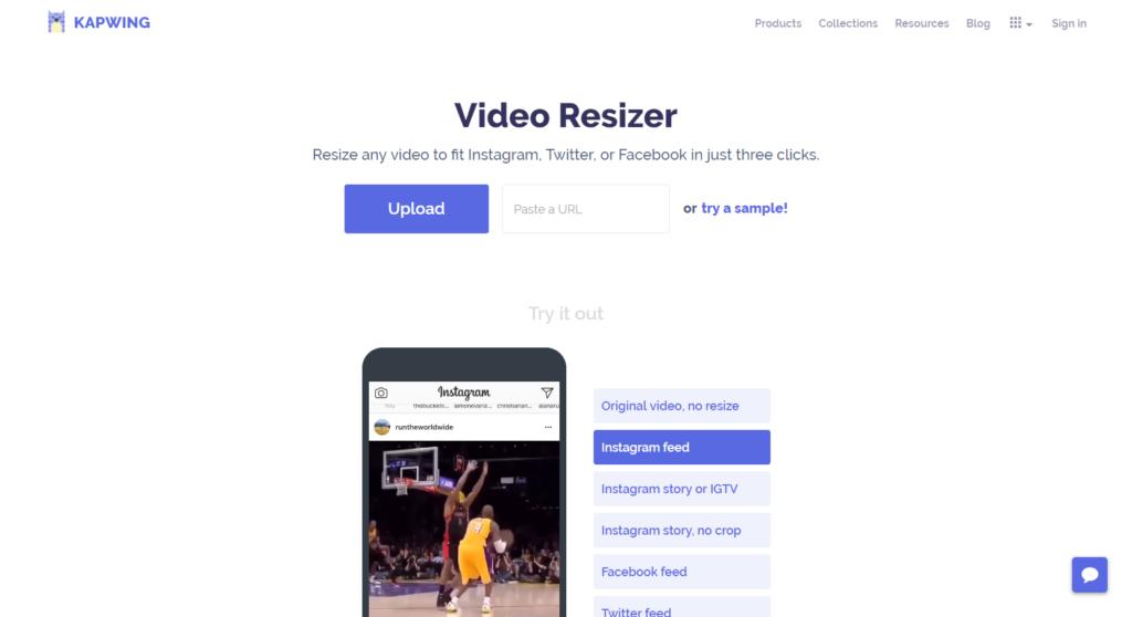 Kapwing, l'outil simple pour retailler ses vidéos