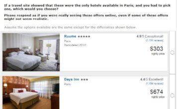 Exemple de sélection d'hôtels dans Expedia