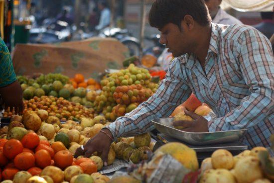 Odeurs d'un marché aux fruits en Inde