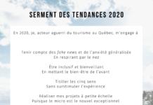 Serment des tendances 2020