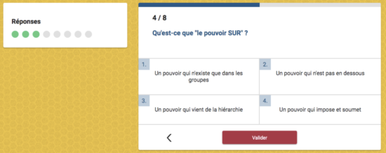 Exemple de quiz tourisme et cooperation micro learning