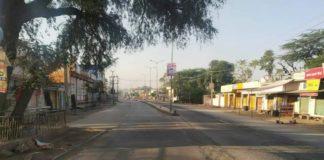 Rue de Jaipur pendant le confinement