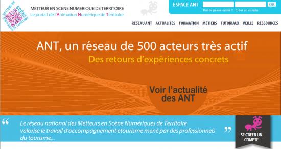 Le site Animateur Numérique de Territoire