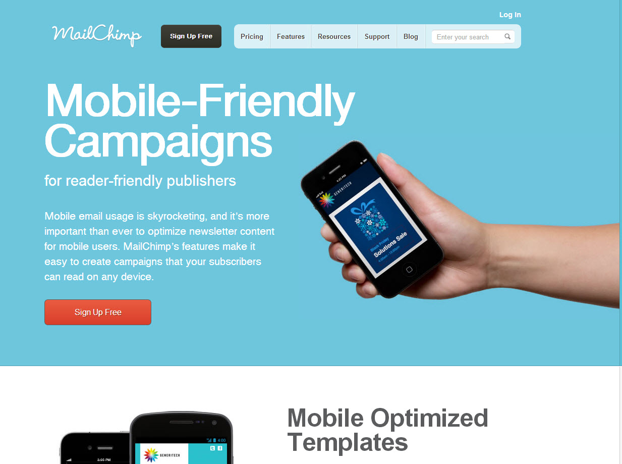 Mail chimp mobile friendly campaign