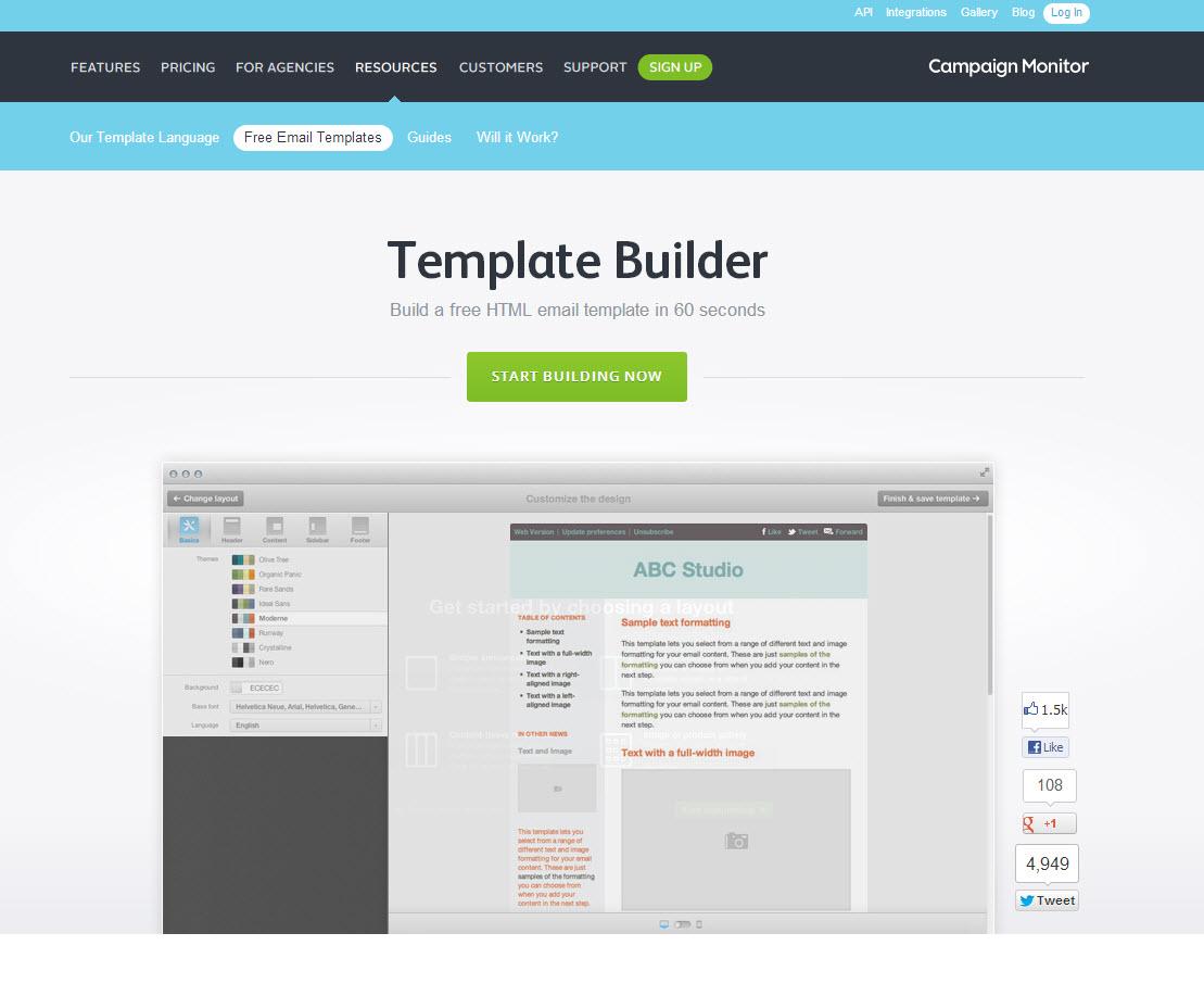 campaign monitor mobile theme builder