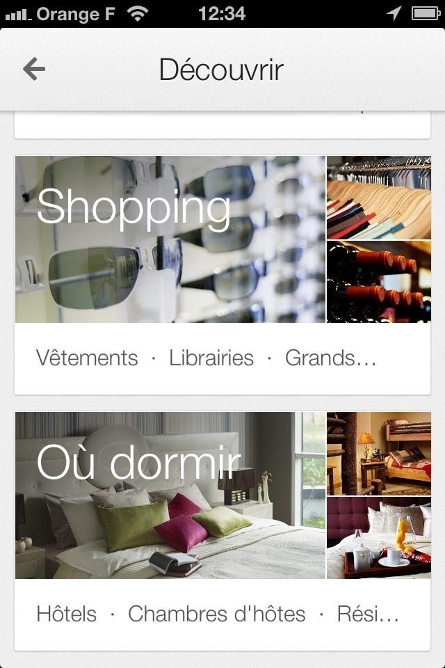 Faire du shopping - google maps