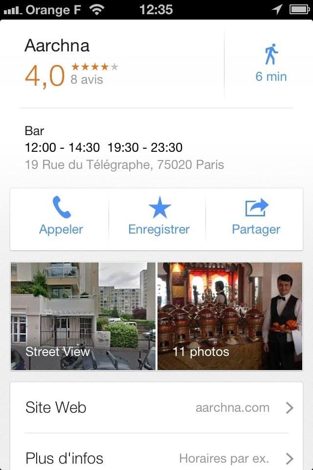 Sélectionner grâce à google maps