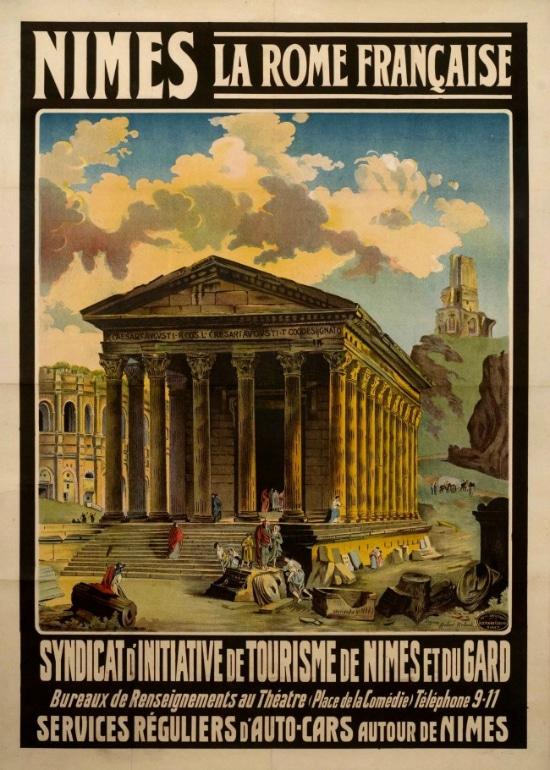 NIMES LA ROME FRANCAISE  SYNDICAT D INITIATIVE DE TOURISME DE NIMES ET DU GARD 1940