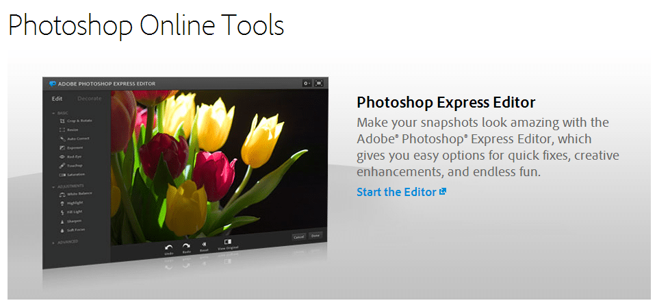 Photoshop Online Tools