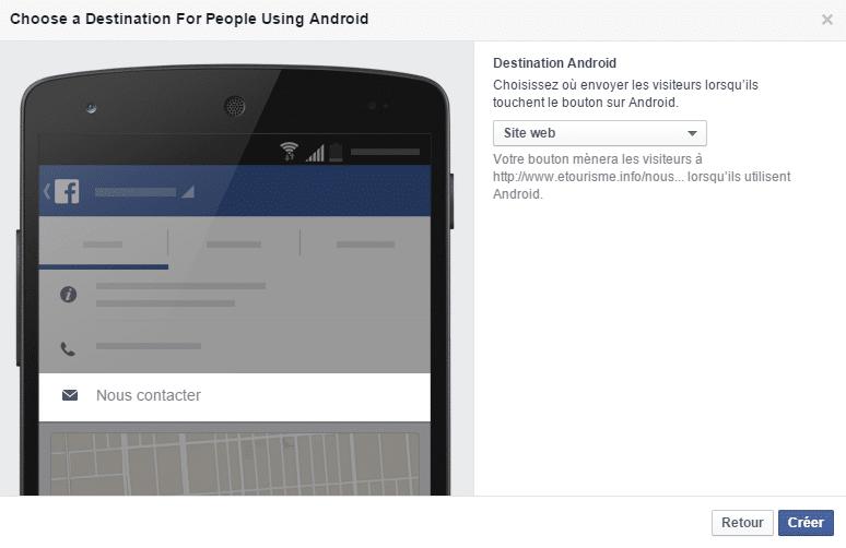 Le bouton d'appel à l'action de Facebook
