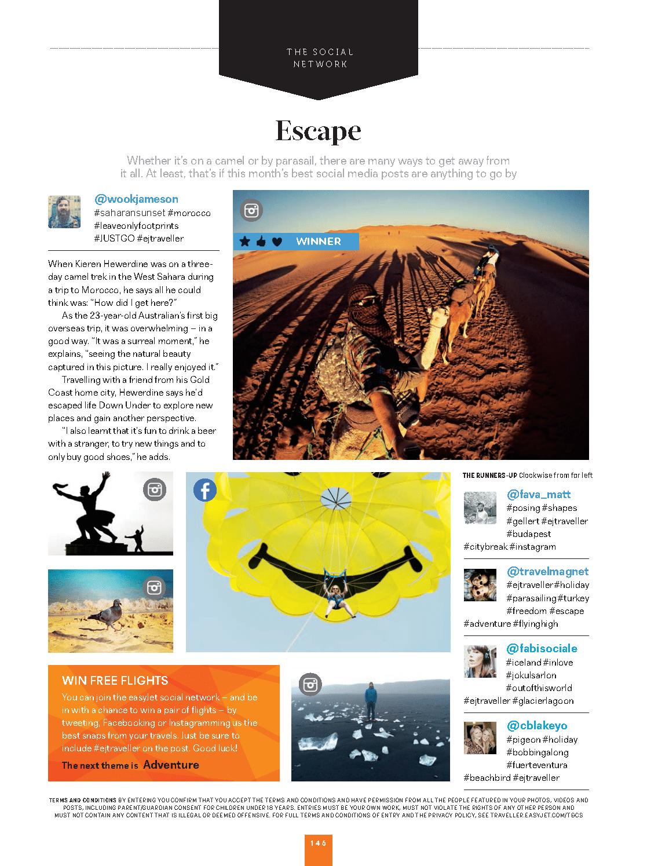EasyJet magazine janvier