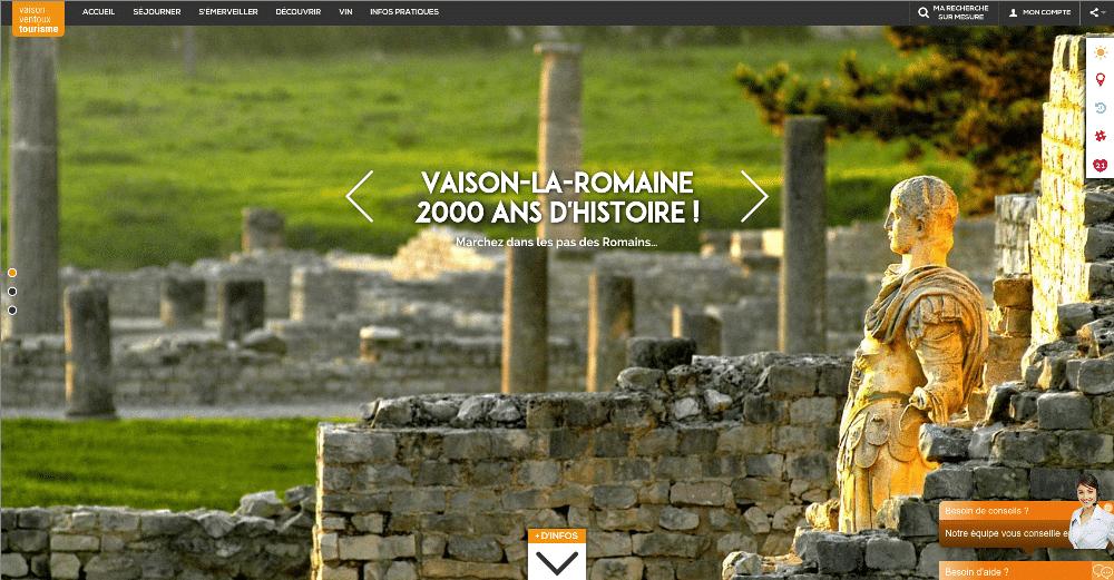 Le nouveau site de vaison la romaine beaucoup plus qu 39 un - Office de tourisme de vaison la romaine ...