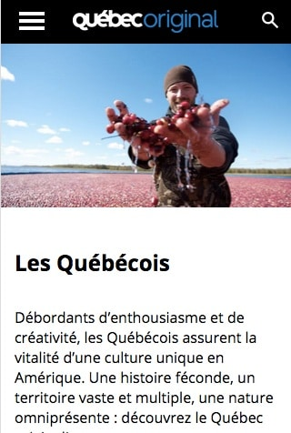 Quebec original quebecois